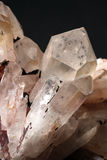 水晶hollandite岩石 库存照片