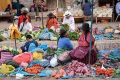 水果和蔬菜待售在市场,秘鲁 免版税库存照片