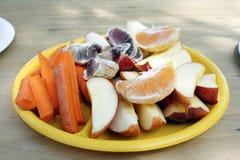 水果和蔬菜快餐牌照 库存照片
