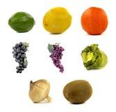 水果和蔬菜拼贴画  免版税库存图片