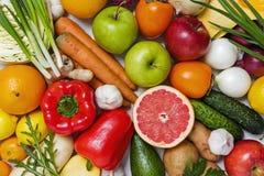 水果和蔬菜背景概念 图库摄影