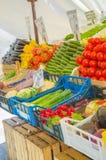 水果市场停转蔬菜 免版税库存图片