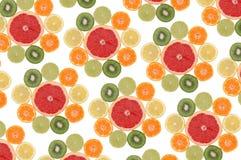水果构成的花 库存照片
