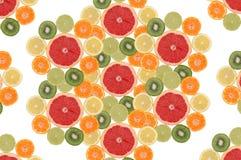 水果构成的花 免版税库存照片
