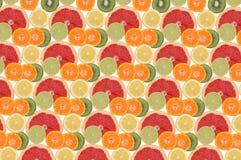 水果构成的花 库存图片