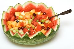水果沙拉西瓜 免版税库存照片