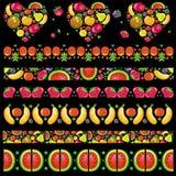 水果的水多的模式 库存照片