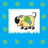 水果的狗 免版税库存图片