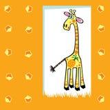 水果的长颈鹿 免版税库存图片
