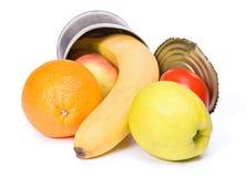 水果罐头开张 免版税图库摄影