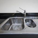 水槽不锈钢 免版税库存图片