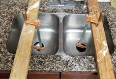 水槽修理 库存图片