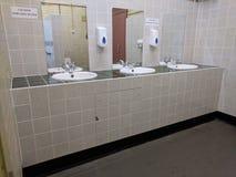 水槽和镜子的等轴测图 免版税图库摄影