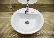 水槽白色 免版税库存图片