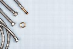 水水管和适配器 免版税图库摄影