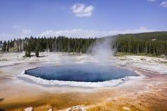 水池喷泉较大黄石 库存图片