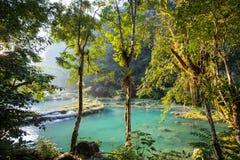 水池在危地马拉 免版税库存图片