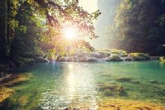 水池在危地马拉 图库摄影