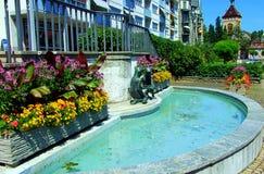 水池,水,城市,旅馆,游泳,夏天,大厦,蓝色,手段,房子,建筑学,庭院,豪华,旅行,树,天空,绿色 图库摄影