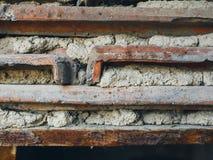 水泥和厚实的瓦片老墙壁  库存图片