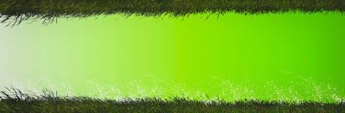水泥地板被洗染的绿色,表面是美好,与轻微的渐进性对黑暗,与草上面和底部 免版税库存图片