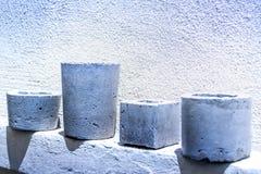 水泥罐和墙壁照片 免版税库存照片