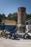 水泥阻拦设备 免版税库存照片
