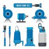 水泵 工业机械电子泵浦钢系统污水水色控制站传染媒介象 皇族释放例证
