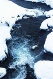 水流程在雪的 库存图片