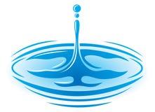 水滴徽标 皇族释放例证