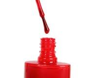 水滴指甲油红色 库存照片