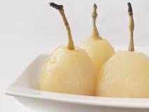 水煮的梨 免版税库存照片
