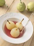 水煮的梨 免版税库存图片
