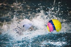 水球是队水上运动 库存照片
