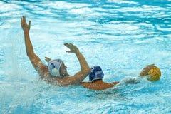 水球比赛 反对法国的克罗地亚胜利 免版税库存照片
