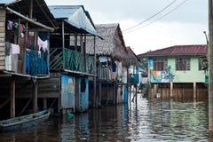 水的村庄 免版税库存图片