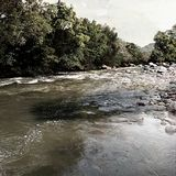 水的流程 免版税库存图片