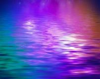 水的表面上的概念反射 库存例证