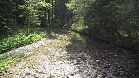 水的运动在山河 影视素材