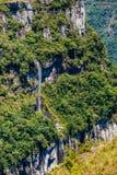 水秋天和峡谷-国家公园 免版税库存照片
