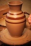 水罐绘画陶瓷工水 免版税库存照片