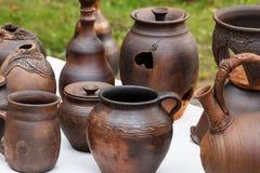 水罐,水壶,罐,杯子待售 图库摄影