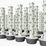水耕的生长系统使用模件可堆叠的生长罐 向量例证