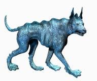 水色剪报狗包括路径 免版税库存图片