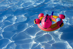 水色可膨胀的玩具 库存图片