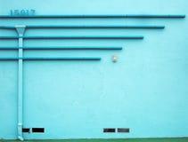 水色墙壁 免版税库存图片