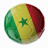 水色球取火镜足球 标记塞内加尔 库存图片