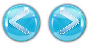 水色蓝色按钮 库存图片