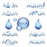 水色设计要素 免版税库存照片