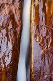 水蚀,北部小河河的左叉子 免版税库存照片